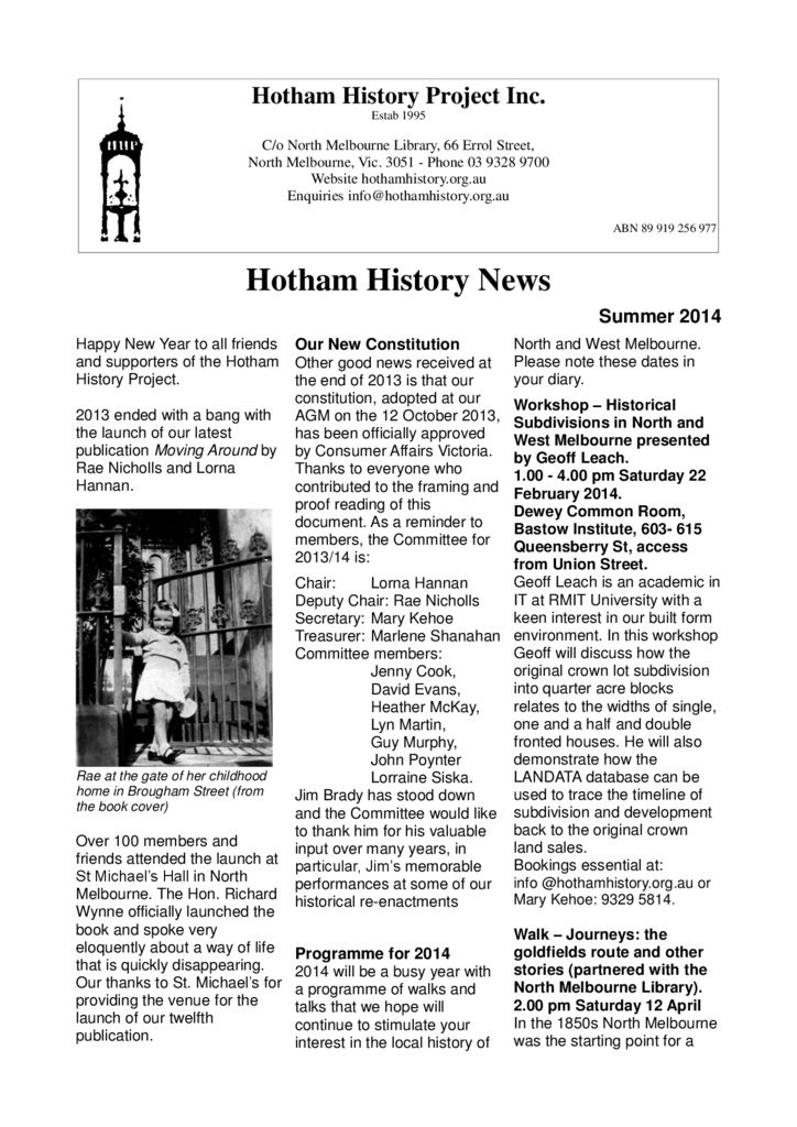 thumbnail of Newsletter_18_2014_March