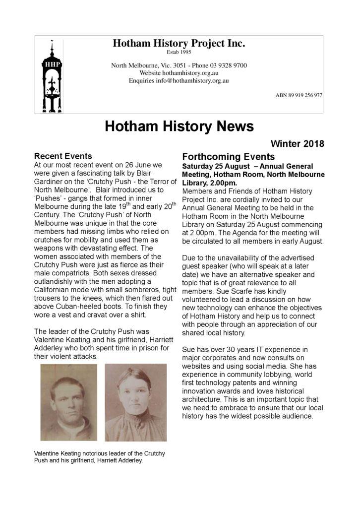 thumbnail of Newsletter Winter 2018